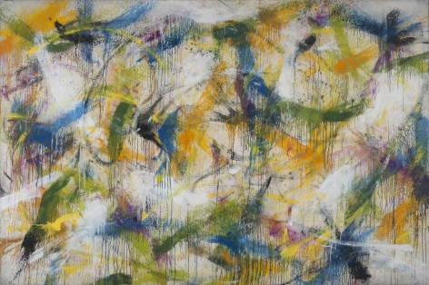 NORMAN BLUHM  Citrus  1959, oil on linen, 72 × 108 inches.