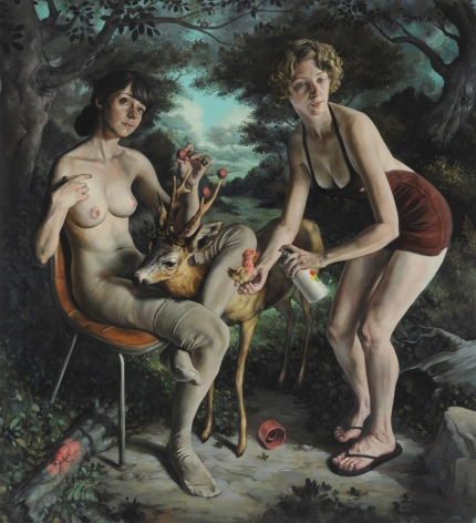 ERIK THOR SANDBERG Alterations 2010, oil on panel, 48 x 53 x 2 inches