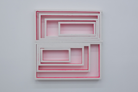 CORDY RYMAN Window Box 2010, acrylic and enamel on wood, 54 x 52 x 5 inches