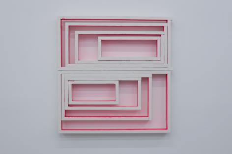 CORDY RYMAN Window Box 2010, acrylic and enamel on wood, 54 x 52 x 5 inches