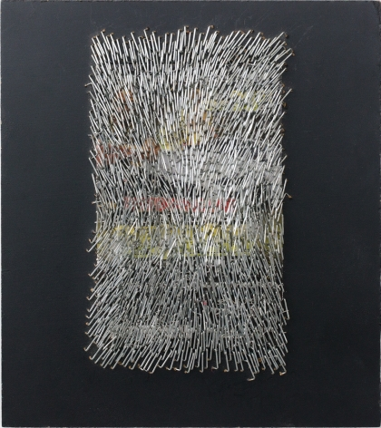 Wilmer Wilson IV  Untitled (Car)  2012, mixed media on wood, 9 x 8 inches.