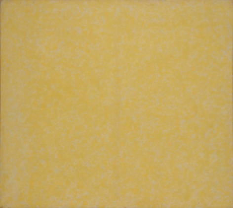 HOWARD MEHRING Untitled (yellow all-over) c.1962, magna on canvas, 55 x 55 inches.