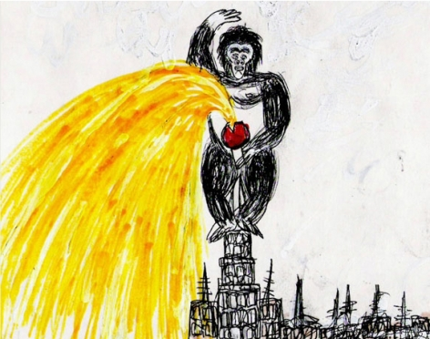 FEDERICO SOLMI King Kong and the End of the World (detail) 2006, video-animation