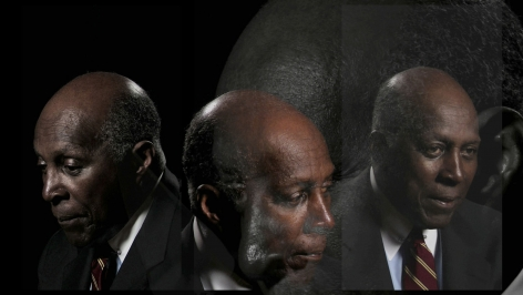 LINCOLN SCHATZ The Network (Vernon Jordan) 2012, face-mounted pigment print, 16.75 x 30 inches