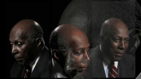 LINCOLN SCHATZ The Network (Vernon Jordan) 2012, face-mounted pigment print, 16.75 x 30 inches
