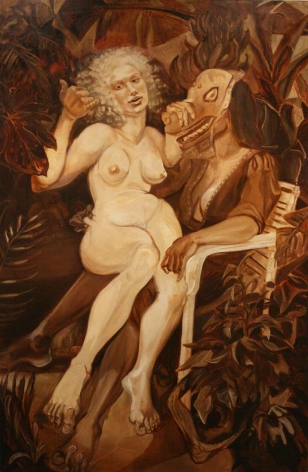 SANDRA PARRA Gabrielle and Her Only Sister 2007, oil on canvas, 77 x 51 inches.