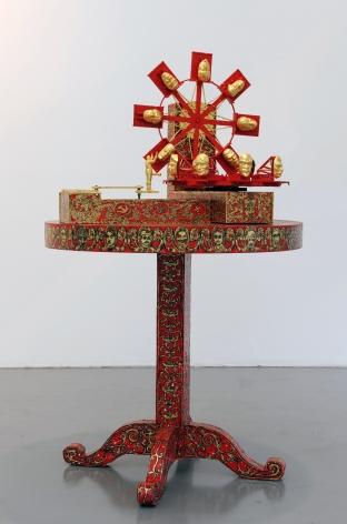 FEDERICO SOLMI Fucking Machine, After Leonardo 2010, mechanical sculpture, 60 x 36 inches