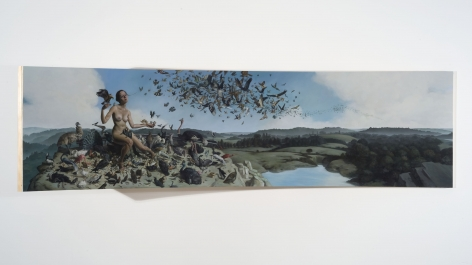 ERIK THOR SANDBERG Receptivity 2011, oil on curved panel, 26 x 88 x 35.5 inches