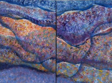 Untitled (diptych), 1998  acrylic on canvas  36 x 48 inches (overall)