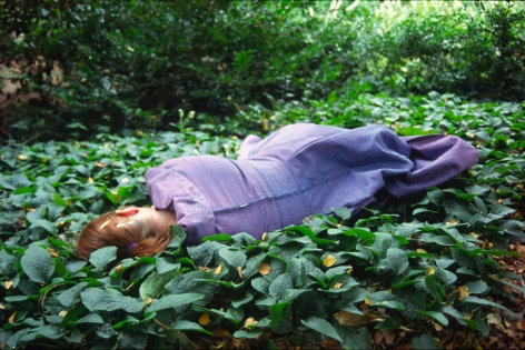 Susan MacWilliam  Garden Series: Girl on Ground  2001/2006, digital print, 16 x 24 inches, ed: 5.