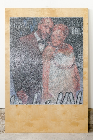 Wilmer Wilson IV lack & Wh 2016, mixed media on wood, 72 x 48 inches