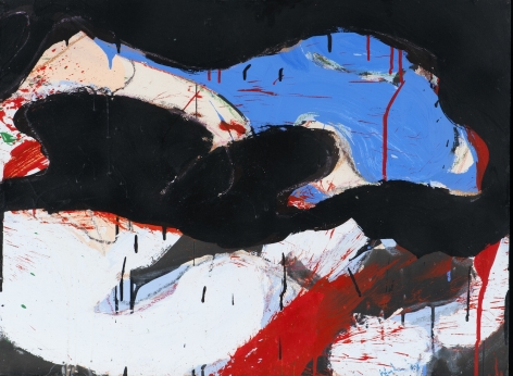 Norman Bluhm  Untitled  1974, acrylic on board, 24 x 32 inches.