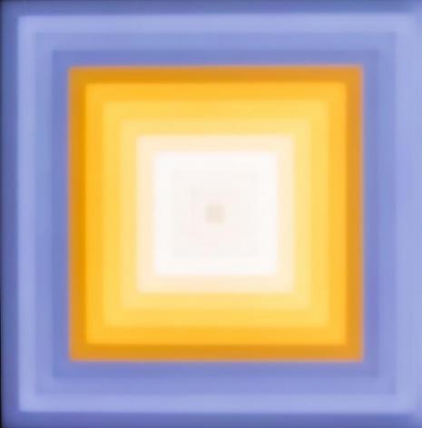LEO VILLAREAL Scramble (3x3) 2013, light emitting diodes, computer, custom software, circuitry, wood, plexiglas, 37.5 x 37.5 x 3.75 inches