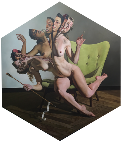 ERIK THOR SANDBERG  Congruity  2019, oil on panel, 54 x 48 inches
