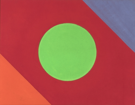 Paul Reed  19D  1965, acrylic on canvas, 26.5 x 34 inches.