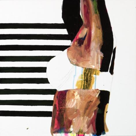 JESSICA MARIA HOPKINS  April 22  2019, acrylic, ballpoint pen on canvas, 24 x 24 inches.