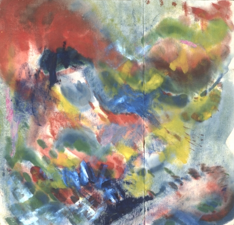 Howard Mehring  Brilliance  c.1957, magna on canvas, 28 x 27 inches.