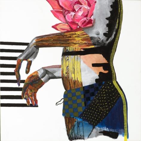 JESSICA MARIA HOPKINS  November 2  2019, acrylic, graphite on canvas, 24 x 24 inches.
