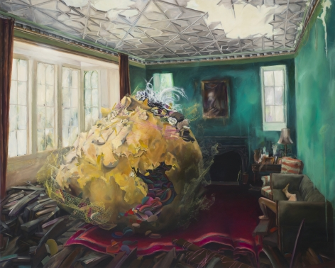 ALI MILLER Closure 2011, oil on panel, 48 x 60 inches