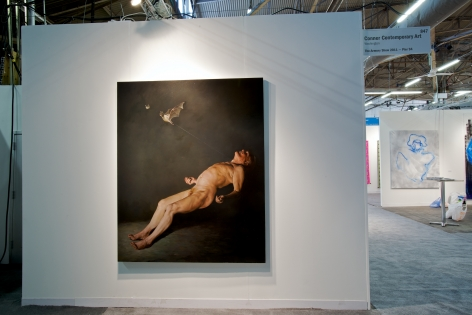 ERIK THOR SANDBERG Transition 2011, oil on panel, 74 x 60 inches. Installation view: booth 847, The Armory Show.