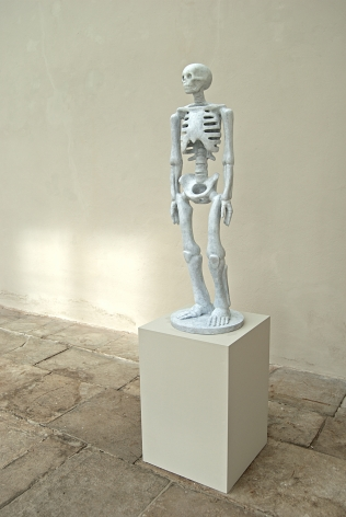 Kenny Hunter The Unknown bronze, paint, 39 x 8 x 8 inches sculpture