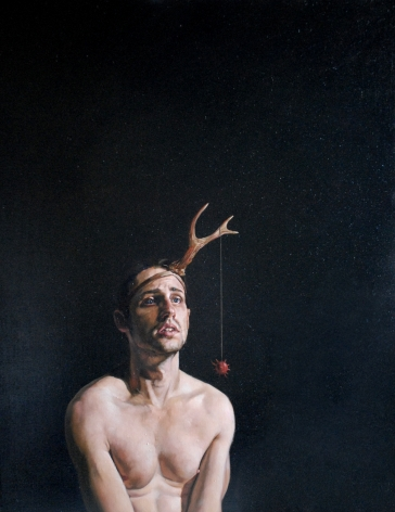ERIK THOR SANDBERG Complacency 2009, oil on canvas, 30 x 24 inches.