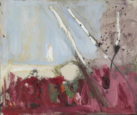Gene Davis  Untitled  1957, acrylic on canvas, 10 x 11.75 inches.