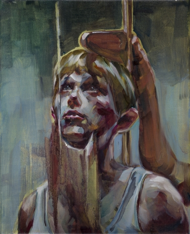 JUSTINE OTTO  Messung  2015, oil on linen, 12 x 8 inches.