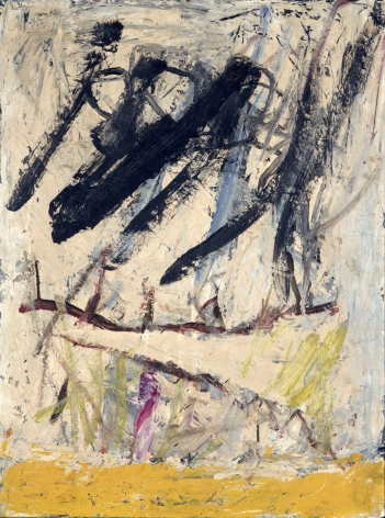 Gene Davis  Untitled  1953-54, oil on masonite, 23 x 17.5 inches.