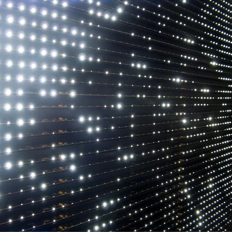 LEO VILLAREAL Diamond Matrix (detail) 2008, light emitting diodes, mac mini, circuitry and anodized aluminum, 61.5 x 61.5 x 5 inches