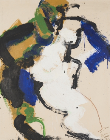 Norman Bluhm  Untitled (Merry Christmas, Vincent)  1966, acrylic on board mounted on Masonite, 37 x 30.5 inches.