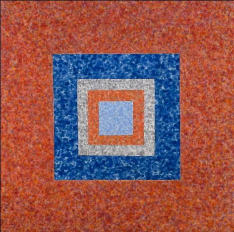 HOWARD MEHRING Untitled c 1963, magna on canvas, 57 x 57 inches