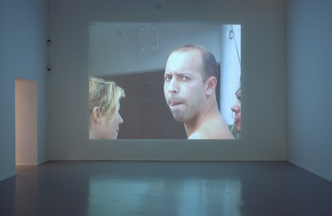 MARIA FRIBERG painted view 2003-2007, 2-channel video, run time: 2:20 and 4:50 (loop), ed:6. Installation view: Moderna Museet, Stockholm.