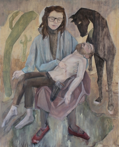EMMA ROSE KENNEDY Pieta  2015, oil on panel, 48 x 60 inches.