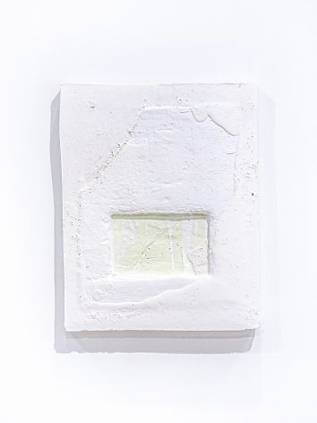 SEOYOUNG BAE  Material Position #1  2018, plaster and mixed media, 36 x 45.5 x 2.4 inches
