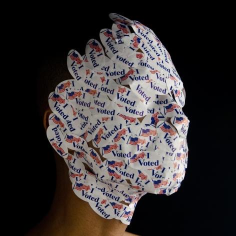 WILMER WILSON IV Model Citizen (Head) 2012, archival pigment print, 15 x 15 inches