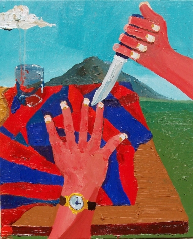 PHILIP HINGE  Five Finger Filet  2010, acrylic on canvas, 32 x 24 inches