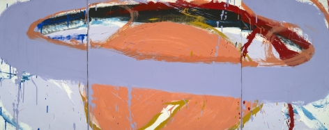 Norman Bluhm  Untitled  1970, oil on canvas, 24 x 60 inches.