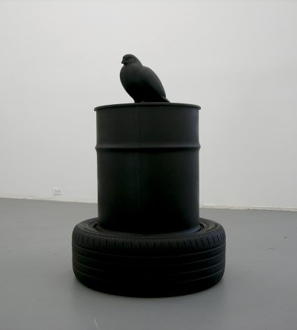 KENNY HUNTER  The Wasteland  2008, resin, oil can, jesmonite, paint, 35 x 25 x 25 inches