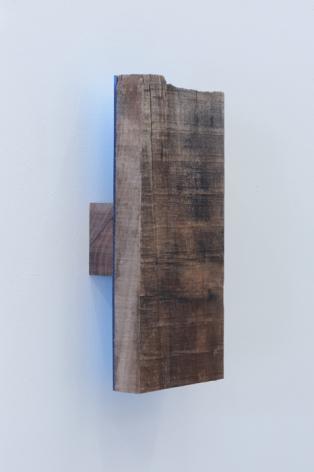Joe Ovelman_Gettin a Chubbie wood, plastic, reclaimed leather, 12 x 5.5 x 2.5 inches