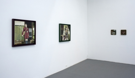 JULIE ROBERTS and ERIK THOR SANDBERG  The Works: Recent Painting, Sculpture, Video 2013. Installation view: CONNERSMITH.