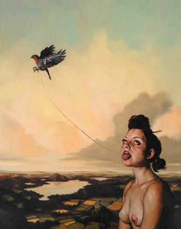 ERIK THOR SANDBERG Truth 2009, oil on canvas, 34 x 21 inches.