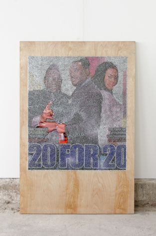 WILMER WILSON IV  20 for 20  2016, mixed media, 72 x 48 x 1.5