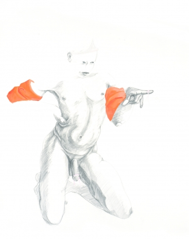 ZOË CHARLTON  Untitled 2 (from Floaties) 2007, graphite, acrylic and gouache on paper, 51 x 45 inches.