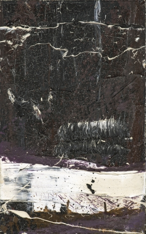 Michael Goldberg  Untitled  1962, oil on canvas, 16 x 10 inches.