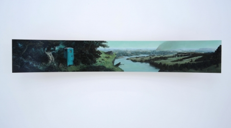 ERIK THOR SANDBERG Vestige 2011, oil on curved panel, 15 x 88 x 12 inches