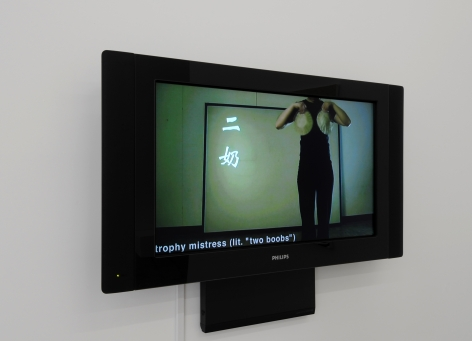TING ZHANG 26 Women's Titles 2010, digital video, run time: 8:35. Installation view: Conner Contemporary Art.