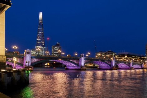 Leo Villareal Illuminated River Southwark Bridge Photograph by James Newton