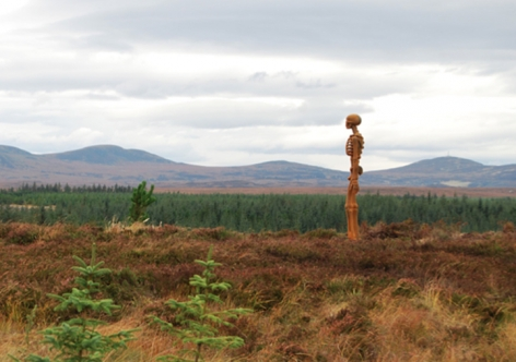 KENNY HUNTER The Unknown 2012. Installation view: Borgie Forest, Scotland