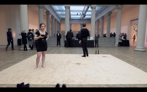 RACHEL HRBEK Easy Consumption (video still) 2013, video documentation of performance, 5:02
